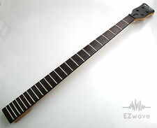 24 Fret 4-String Rosewood Maple Electric Bass Neck Replacement Satin Finish