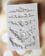Vintage Frame Silicone Fondant Mold Cake Jewel Pearl Chain Baking Icing Mould