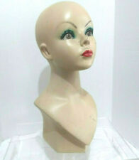 Vintage 1950s Mannequin Display Head Young Woman Judy Garland Lookalike
