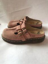 DR MARTENS Pink Airwair Sz 6 Women's Slip On Double Strap Shoes Slides
