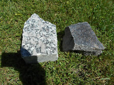 2 Granite Chunk Block Heavy Thick Flower Rock Garden Fish Pond Stone Gray Purple