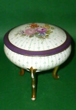 Antique Porcelain container Covered dish Candy box Cookie jar 0286 hand painted