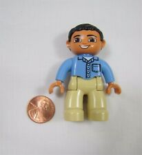 """LEGO DUPLO FATHER MAN DAD in BLUE SHIRT 2.5"""" FIGURE Rare!"""