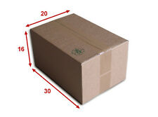 25 boîtes emballages cartons  n° 34   - 300x200x160 mm - simple cannelure