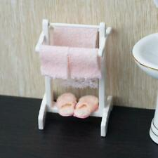 1:12 Dollhouse Miniature Bathroom Wood Towels Rack Set Toy Furniture Accessories