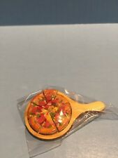 Dollhouse Miniature Sliced Pizza on a Serving Board