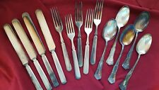 14 Vintage -1881 Rogers A1 Spoons 1847 Rogers Bros Forks Knives