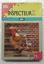 Inspecteur Z MSX Cartouche HM-024 Edition Française
