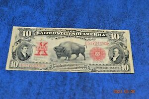 1901 $10 Buffalo red seal united states note