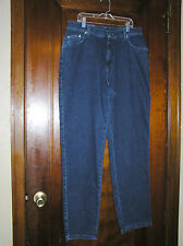 RIVETED BY LEE JEANS RELAXED STRAIGHT LEG STRETCH COTTON JEANS SZ 14 1115