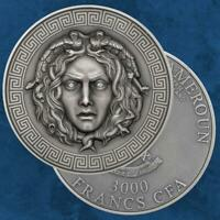 Kamerun - Medusa - 3000 Francs 2019 Silber - Cameroon - Antique finish