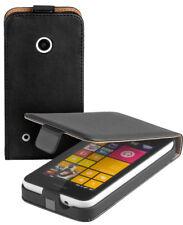 Eco Flip-Style Case Tasche für Nokia Lumia 530 / 530 Dual Sim Hülle Etui schwarz