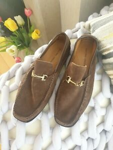 Racing Green (Benchmade) Mens suede brown T Bar shoes UK 8