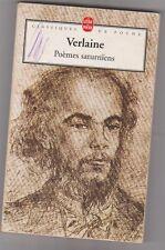 Verlaine - Poèmes saturniens . poche. état d'usage.petit prix .
