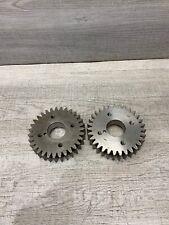 Industrial Machine Age Steel Lot 2 Gears/Cogs Steampunk Art Parts Lamp Base