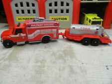 MATCHBOX FIRE INTERNATIONAL TERRASTAR HAZ-MAT & FOA M TRAILER CUSTOM KITBASH SET