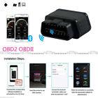 Black Car Obdii Elm327 Diagnostic Scanner Bluetoothtool With Auto Sleep Switch