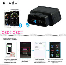 Black Car OBDII ELM327 Diagnostic Scanner BluetoothTool With Auto Sleep Switch