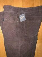 Eddie Bauer Women's Corduroy Boot Cut Pants Dark Brown Size 16P ~ Brand New