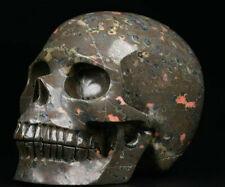 "Huge 5.2"" Plumite Carved Crystal Skull, Realistic, Crystal Healing"