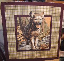 Wolf Pup Cotton pillow fabric panel