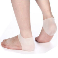 2 Pcs Silicone Gel Heel Protector Plantar Fasciitis Pain Relief Cushion One Size