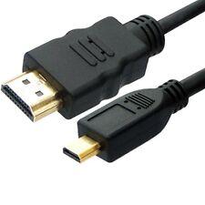 """Cable HDMI """"A"""" a Micro HDMI """"D"""" 1,5 METROS 24Kt. Gold Doble Apantallado NUEVO"""