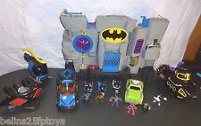 Fisher Price Imaginext DC Justice Batcave batman robin penguin sub loaded
