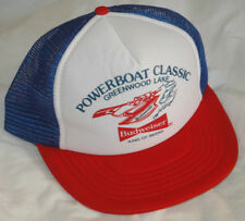 Vtg POWERBOAT CLASSIC Hat TRUCKER CAP Rare MISS BUDWEISER Speedboat NEW YORK