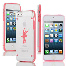 For iPhone SE 5 5s 5c 6 6s Plus Clear Hard TPU Case Cover Dance Ballet Dancer