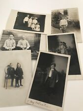 RPPC Real Photograph Postcards Early 1900S Children Kids 1910-12 Lot 6 Cards