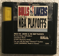 Bulls vs. Lakers and the NBA Playoffs (Sega Genesis, 1991) 16-Bit Cartridge Only