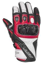 RST STUNT 3 CE Red Motorbike Leather Short Sports 2123 Gloves cheap!