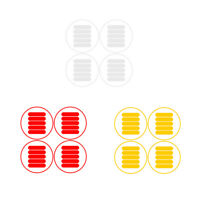 1X(Protective Reflective Sticker for Xiaomi Mijia M365 Electric Scooter Ska 5K2)