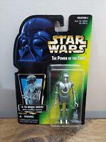 Kenner Star Wars 1996 POTF2 Green Card 2-1B Medic Droid MOC
