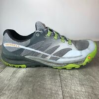 Merrell All Out Charge Trail Runner Shoes Grey / Lime Green Men's Size 9.5