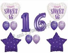PURPLE 16TH Sixteenth Birthday Party Balloons Decoration Supplies Sweet Girl