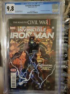 Invincible Iron Man 9 CGC 9.8 First Print First Full Riri Williams 🔥 MCU