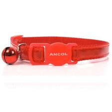 Ancol Gloss Reflective Safety Release Buckle Cat Collar Red, Blue, Silver
