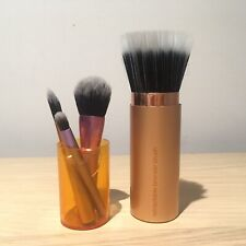 Real Techniques Retractable Bronzer Brush And Travel Size Make Up Brushes