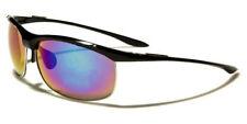 Sunglasses Metal Sport Designer Shades Wraps Xloop Men Women Black Silver XL587D