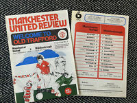 Manchester United v Middlesbrough 1976 Programme w/token!FREE UK POSTAGE!LAST 2!
