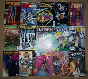 Mixed Lot of Marvel DC Comics All #1's Comet man Outsiders bullet points Lobo