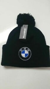 BMW Beanie Wooley Hat with Bobble