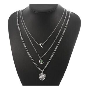 Hope Mikaelson Legacies Vampire Diaries 3 Layer Necklace Family Crest Necklace