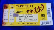 Take That Progress Live 2011 Wembley ticket