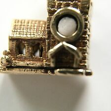 Charm  9 Carat Yellow Gold Vintage Church Opening With Bride And Groom