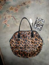NEW Elizabeth Arden CUTE Leopard Hobo bag & A MATCHING  VICTORIA SECRET WRISTLET