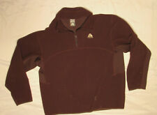 Nike Acg Mens Shirt Brown Large L Pullover Fleece 1/4 Zip Vintage Fit Therma