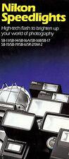 1980s NIKON SPEEDLIGHT FLASH BROCHURE -SB11-SB14-SB16-SB17-SB15-SB19-SB6-SR2-SM2